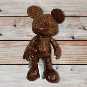 Disney Mickey Mouse Bronze Plush Stuffed Toy NWT